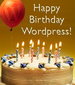 Happy Birthday WordPress! Sincerely, Mobloggy