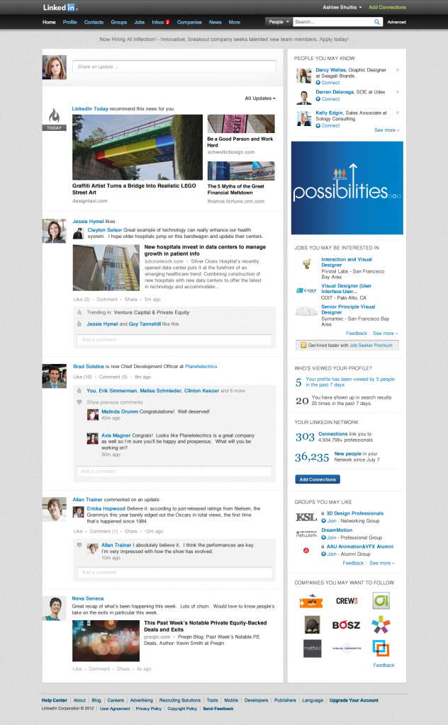 LinkedIn Changes to a Simpler Homepage