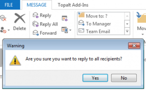 Are You Sure You Want to Reply All?