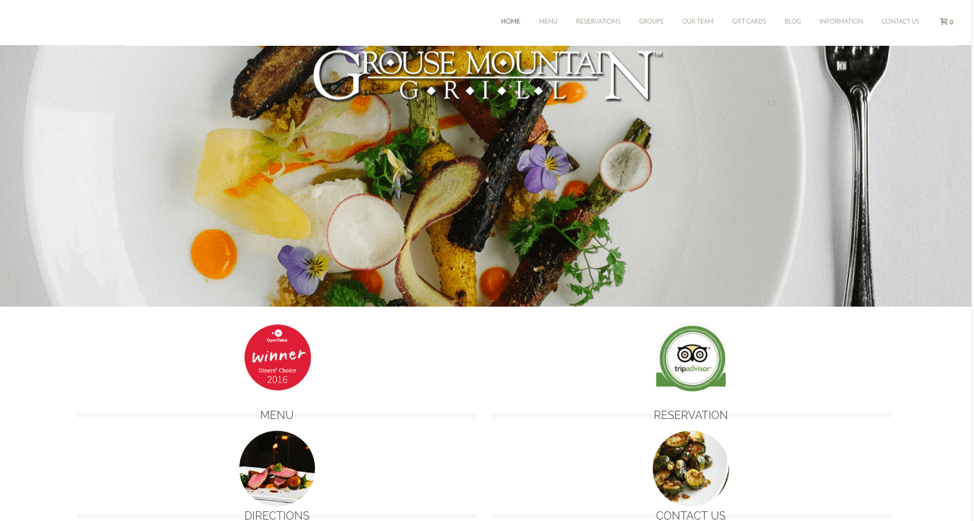 Grouse Mountain Grill - Website Built With Mobloggy