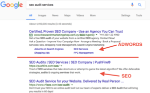Google Adwords Vs Organic SEO