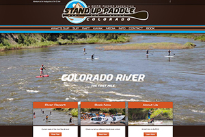 StandUpPaddleColorado.com WordPress Website designed and developed Mobloggy