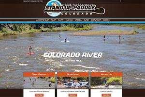StandUpPaddleColorado.com WordPress Website designed and developed Mobloggy