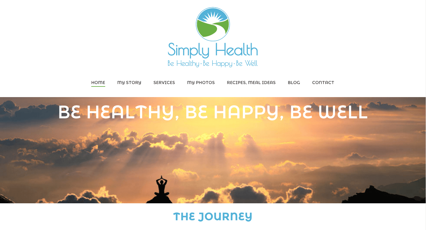 Be Healthy Be Happy Be Well - Website by Mobloggy